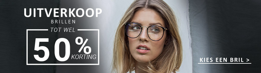 Uitverkoop van brillen en monturen - outlet