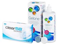 alensa.be - Contactlenzen - Clear 58 (6lenzen)