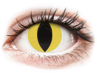 alensa.be - Contactlenzen - Gele Cat Eye contactlenzen - ColourVue Crazy