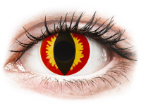 alensa.be - Contactlenzen - Rood en Gele Dragon Eyes contactlenzen - ColourVue Crazy