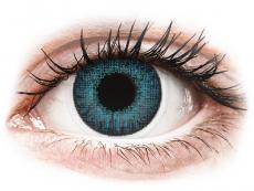 Blauwe Brilliant Blue contactlenzen - met sterkte - Air Optix Colors (2kleurlenzen)