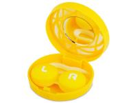alensa.be - Contactlenzen - Lenzenhouder kit met spiegel - geel versierd