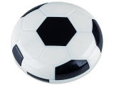 alensa.be - Contactlenzen - Lenzenhouder met spiegel Voetbal - zwart