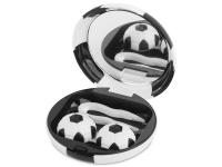 alensa.be - Contactlenzen - Lenzenhouder kit met spiegel Voetbal - zwart