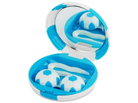alensa.be - Contactlenzen - Lenzenhouder kit met spiegel Voetbal - blauw
