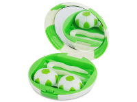 alensa.be - Contactlenzen - Lenzenhouder kit met spiegel Voetbal - groen