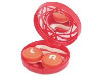alensa.be - Contactlenzen - Lenzenhouder kit met spiegel - rood versierd