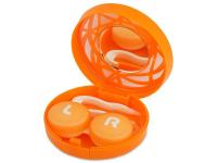 alensa.be - Contactlenzen - Lenzenhouder kit met spiegel - oranje versierd