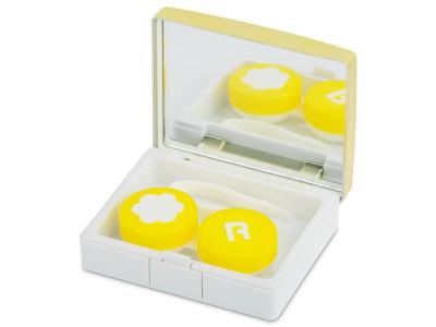 Lenzenhouder kit met spiegel - Elegant goud
