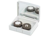 alensa.be - Contactlenzen - Lenzenhouder kit met spiegel - Elegant zilver