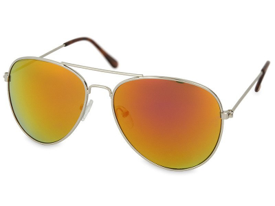 Zonnebril Zilver Pilot - Roze/Oranje