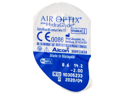 Air Optix plus HydraGlyde (6 lentilles)