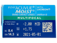 1 Day Acuvue Moist Multifocal (30 lenzen)